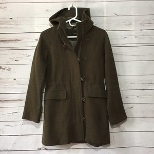 J. Crew wool hooded pea coat